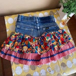 Girls Vintage Butts Jeanerations reworked skirt